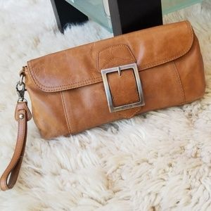 Kenneth Cole Reaction Leather Clutch Wristlet